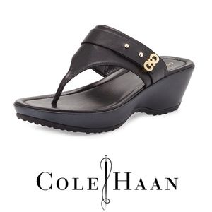 New Cole Haan Margate Thong Black Sandals. I